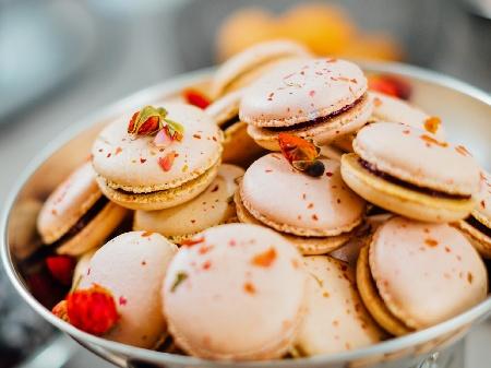 Френски макарони с шоколадов кафеен крем - снимка на рецептата